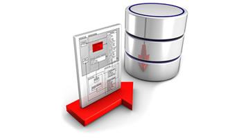 Data Going Into Database Icon