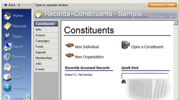 Raiser's Edge Record Screen Small